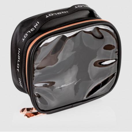 Мала дорожня сумка для косметики TRAVEL MAKEUP BAG SMALL BLACK & ROSE GOLD