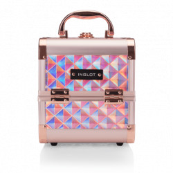Кейс для косметики MAKEUP CASE DIAMOND MINI HOLOGRAPHIC ROSE GOLD (MB152M BIG DIAMOND K107 9) icon
