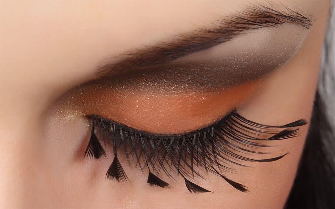 DECORATED FEATHER EYELASHES 62F